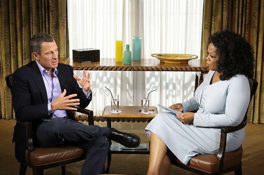 Lance Armstrong's interview with Oprah Winfrey is part of his attempt to rebuild his public image - and to encourage the U.S. Anti-Doping Agency to lift its lifetime ban on his competitive career. Photo: Handout, Getty Images