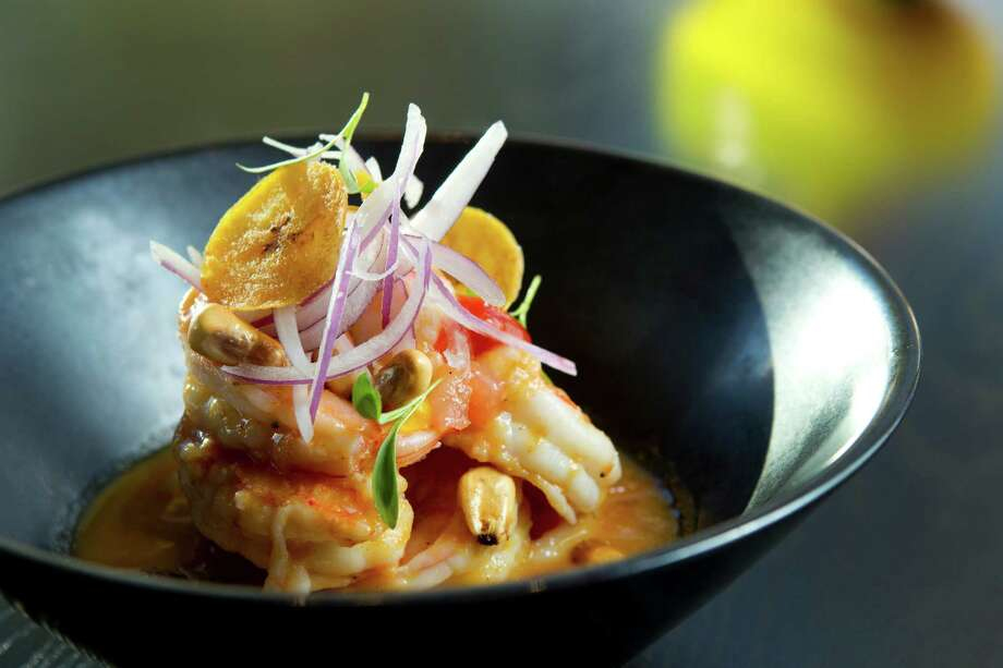 Cebiche de Camaron is shown at Alma Cebiche. Photo: Brett Coomer, Houston Chronicle / © 2012 Houston Chronicle