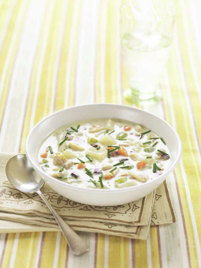 Healthy New England Clam Chowder Photo: Kate Mathis