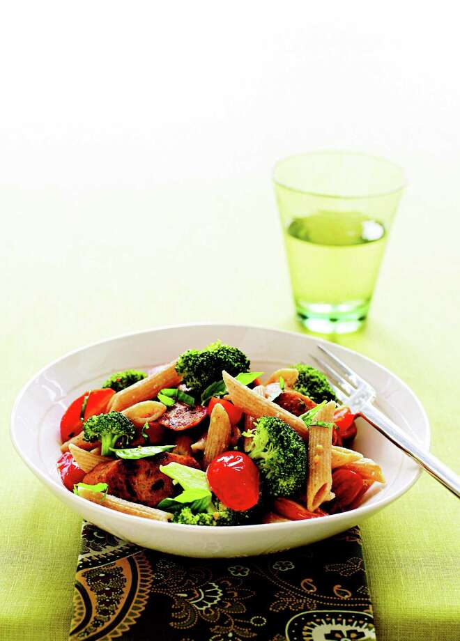 Good Housekeeping recipe for Whole Wheat Penne with Broccoli and Sausage. Photo: James Baigrie