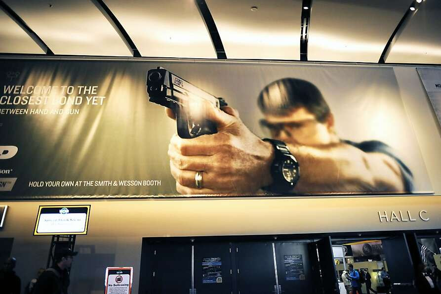 SHOT Show, the world's largest gun show, opened at the Sands Convention Center in Las Vegas, NV on T