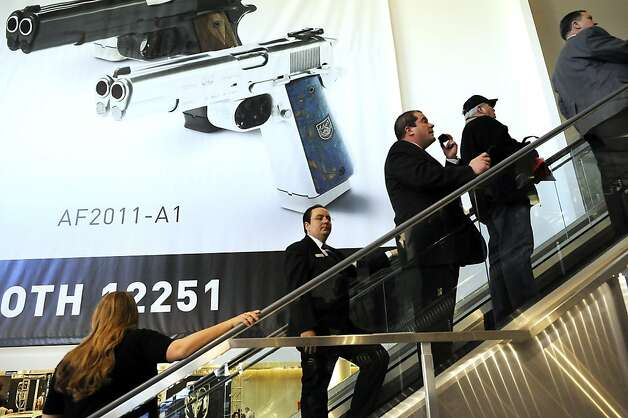SHOT Show, the world's largest gun show, opened at the Sands Convention Center in Las Vegas, NV on Tuesday January 15th, 2013, where an estimated 60,000 industry enthusiasts are expected to attend. Photo: Michael Short, Special To The Chronicle