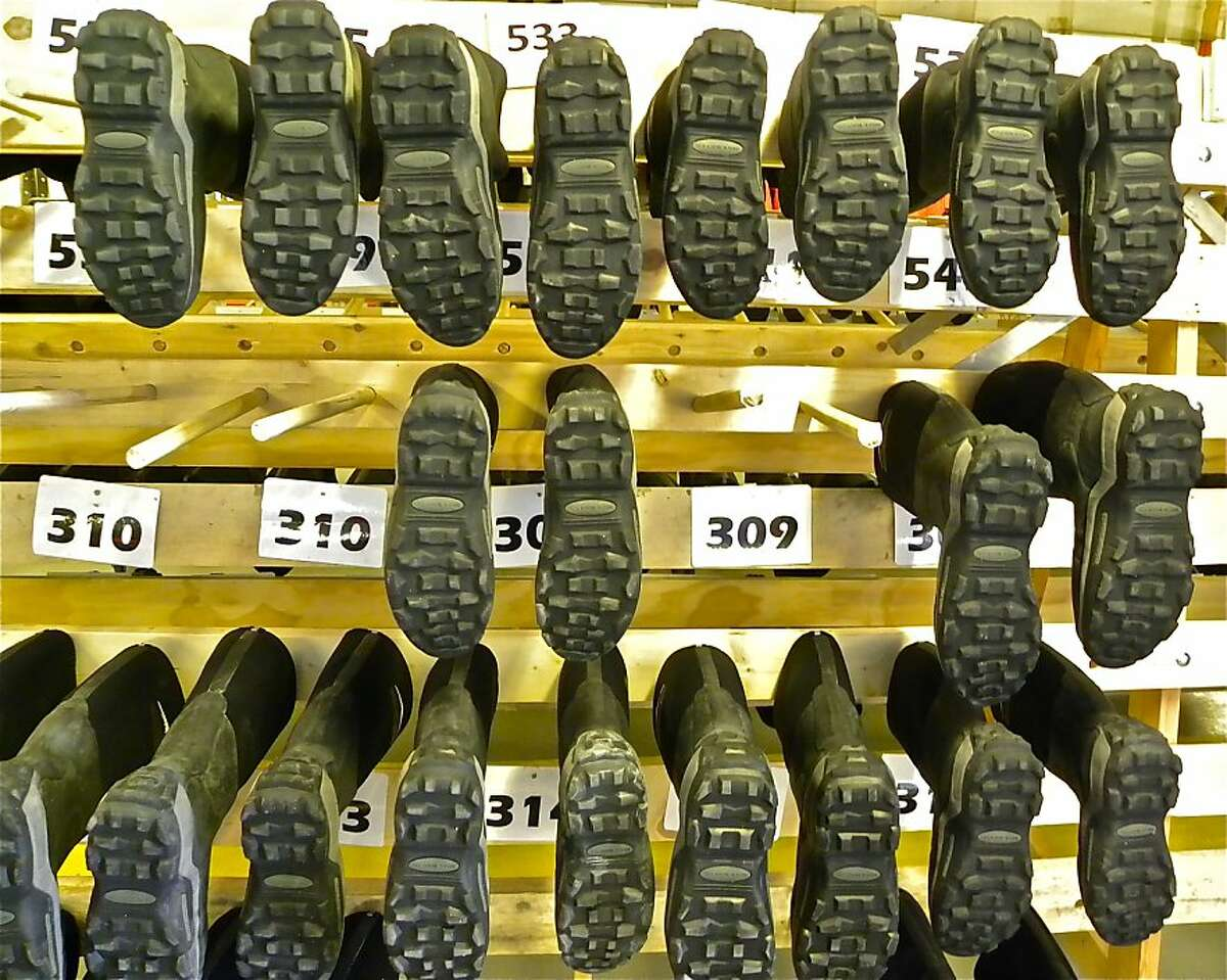 These boots are made for walking - in the harshest conditions. They're for rent on the Fram.
