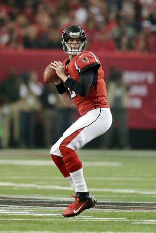 Atlanta Falcons' Matt Ryan throws during the first half of an NFC divisional playoff NFL football game against the Seattle Seahawks Sunday, Jan. 13, 2013, in Atlanta. (AP Photo/Dave Martin) Photo: Dave Martin, Associated Press