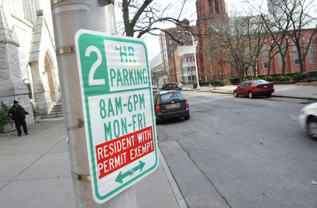 Large gaps of parking spaces are available on State St. near Swan St. on Tuesday Jan. 15, 2013 in Albany, N.Y. After years of debate and negotiations, Albany launched its permit parking system. (Lori Van Buren / Times Union) Photo: Lori Van Buren