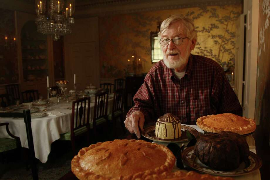 Henry Gadbois, artist and Houston native, is a master at making tantalizingly real-looking - but inedible - dishes for display. His work can be seen, but not tasted, at the Bayou Bend Collections and Gardens. Photo: Mayra Beltran, Staff / © 2012 Houston Chronicle