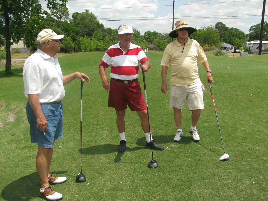 The Cactus Club senior group that calls Pine Crest Golf Club home includes, from left, Richard Kirby, Tooky Clements and Al Klimas. Photo: Handout