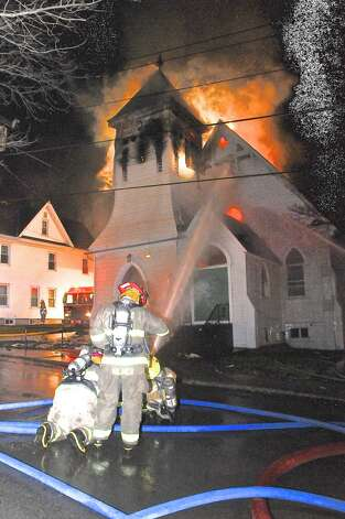 Second Reformed Church in the town of Claverack burns (Lance Wheeler/Special to the Times Union)