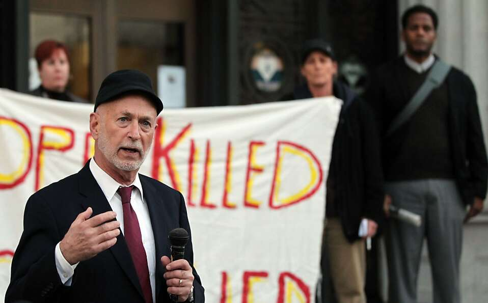 Dan Siegel was a speaker at a rally on the steps of Oakland City Hall. The Oakland City Council's
