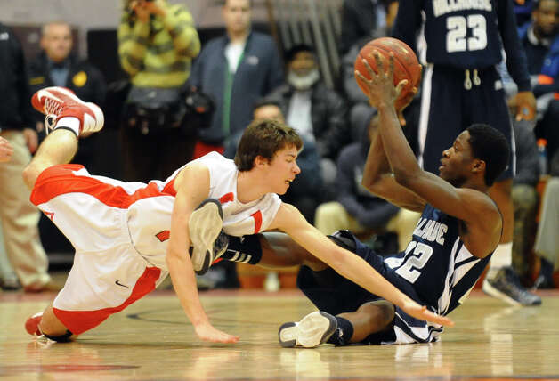 Boys basketball action between Fairfield Prep and Hillhouse at Alumni Hall at Fairfield University in Fairfield, Conn. on Tuesday January 15, 2013. Photo: Christian Abraham / Connecticut Post