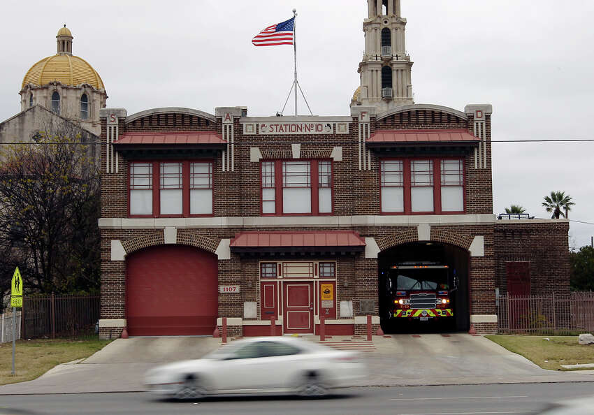 Fire Station No. 10 at 1107 Culebra on Tuesday, Jan. 15, 2013. The building is among 24 Westside properties set for landmark designation by the Historic and Design Review Commission.