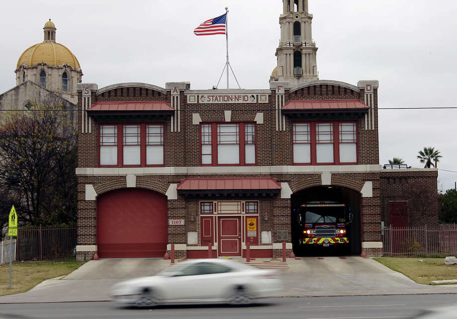Fire Station No. 10 at 1107 Culebra on Tuesday, Jan. 15, 2013. The building is among 24 Westside properties set for landmark designation by the Historic and Design Review Commission. Photo: Kin Man Hui, San Antonio Express-News / © 2012 San Antonio Express-News