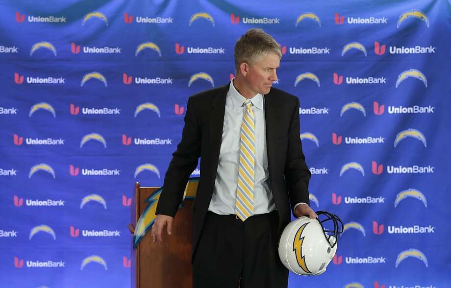 Chargers coach Mike McCoy inherits a team that hasn't won a playoff game since the 2008 season. Photo: Gregory Bull, Associated Press