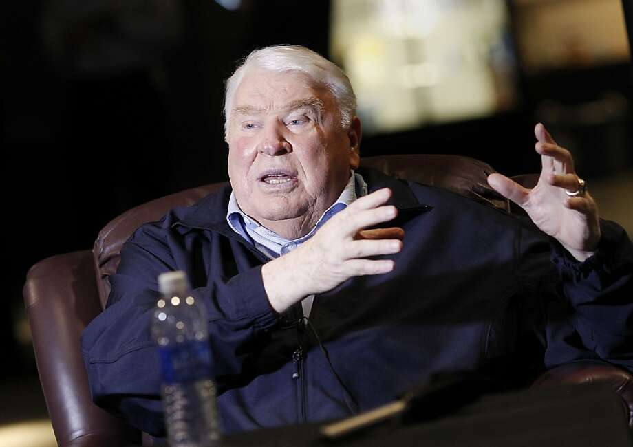 John Madden talked about the state of the NFL from a seat in his Pleasanton offices. John Madden, the former Oakland Raiders coach, and television personality talked about the 49ers and the upcoming playoff game at his offices in Pleasanton, Calif. Tuesday January 15, 2013. Photo: Brant Ward, The Chronicle