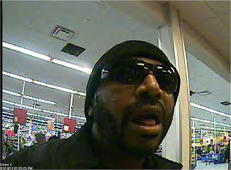 FAKE BEARD ROBBERY:Authorities say this man robbed a bank located inside a Walmart in Stafford early last year while sporting a beard and mustache drawn on with makeup.RELATED: Man with fake beard robs bank Photo: FBI