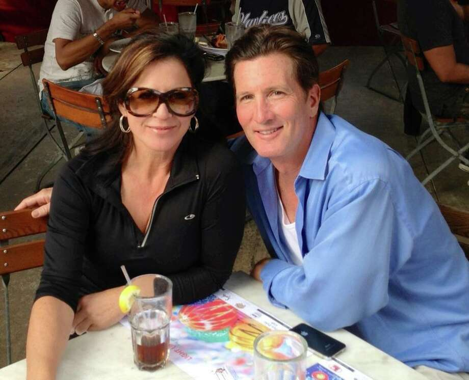 Ursula Pari and fiance Patrick MacLeod during a visit to his current city of South Beach, Fla.; soon, he'll move to S.A. Photo: Courtesy Ursula Pari