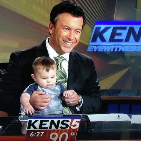 Jeff Vaughn with son Dillon during happier days at his former station of KENS-TV. Photo: Courtesy KENS