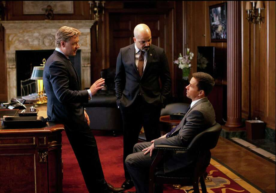 "This film image released by 20th Century Fox shows Russell Crowe, left, Jeffrey Wright and Mark Wahlberg, right, in a scene from ""Broken City."" (AP Photo/20th Century Fox, Alan Markfield) Photo: Alan Markfield"