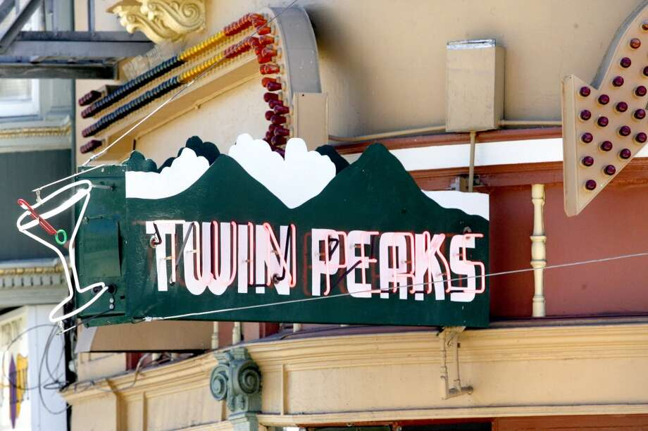 The famed Twin Peaks bar neon sign at 17th and Castro Sts.
