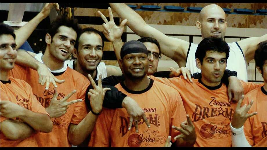 "The documentary ""The Iran Job"" focuses on Kevin Sheppard, center, an American athlete who signs to play with an Iranian basketball team and finds his life changed. Photo: Courtesy Photo"