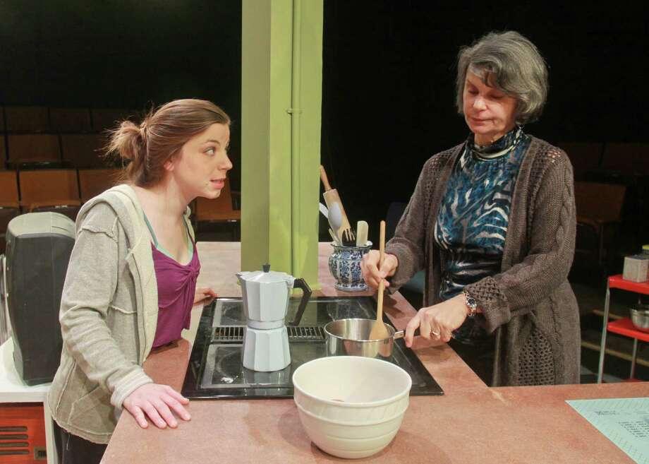 "Joanna Hubbard, left, and Rebecca Greene Udden star in Main Street Theater's ""Memory House."" Photo: Gary Fountain, Freelance / Copyright 2013 Gary Fountain."