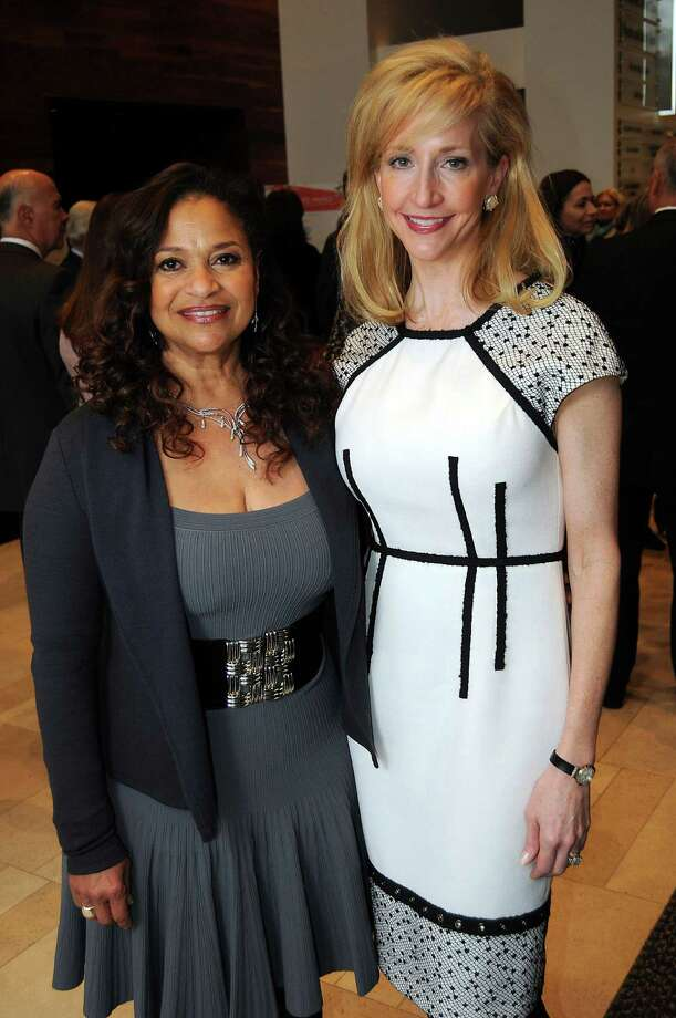 Emcee and 2001 TMA award winner Debbie Allen and honorary chair Patricia Dewhurst at the Texas Medal of the Arts announcement luncheon at the Houston Ballet Center for Dance. Photo: Dave Rossman, Freelance / © 2012 Dave Rossman