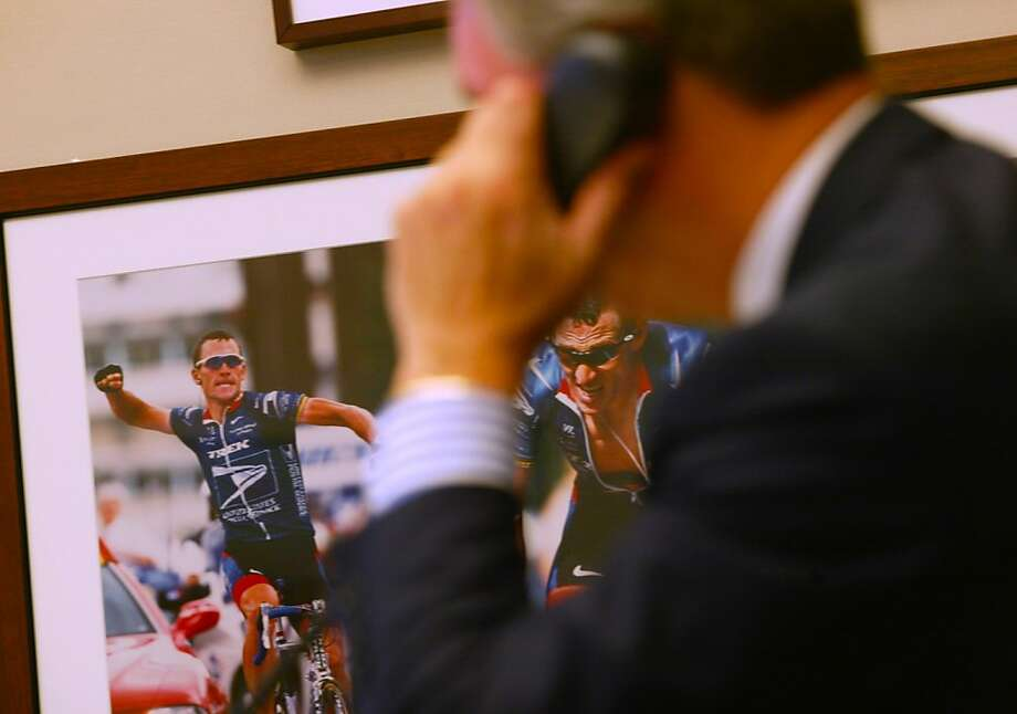 Top, Thomas Weisel works in his office near a photo of Lance Armstrong. Weisel, above, founded the company that owned Armstrong's team. Photo: Michael Maloney, SFC