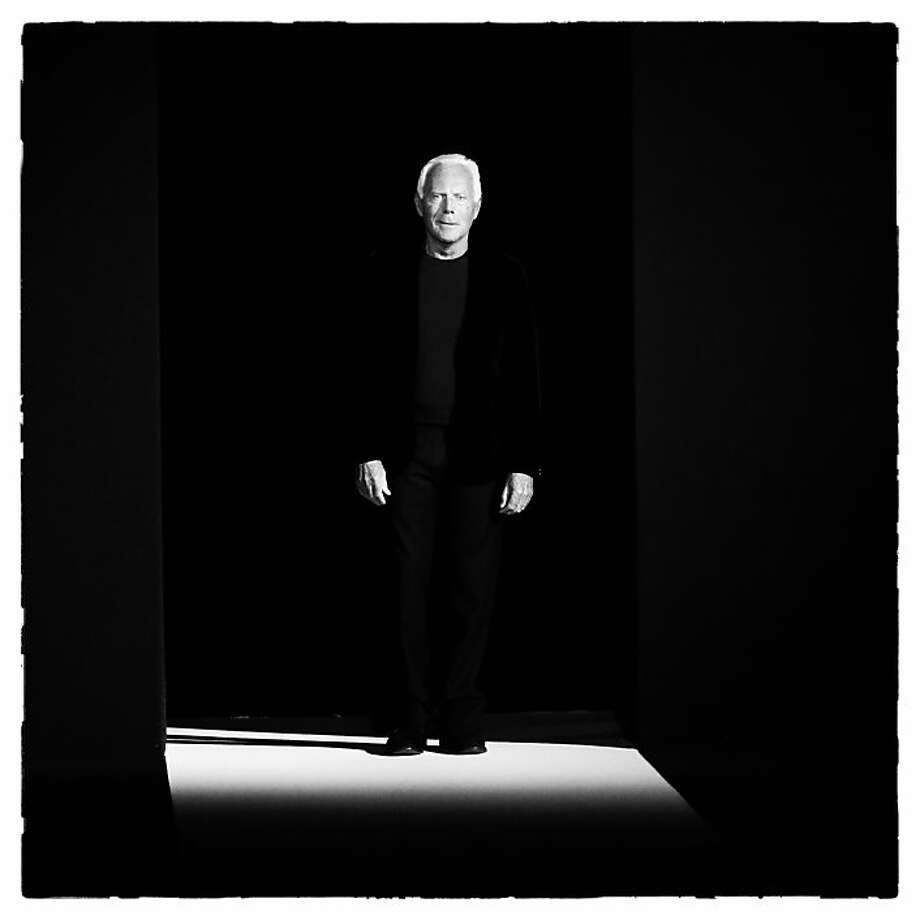 Spotlight on Giorgio: Giorgio Armani acknowledges applause after the Emporio Armani show, part of Milan Fashion Week. Photo: Vittorio Zunino Celotto, Getty Images