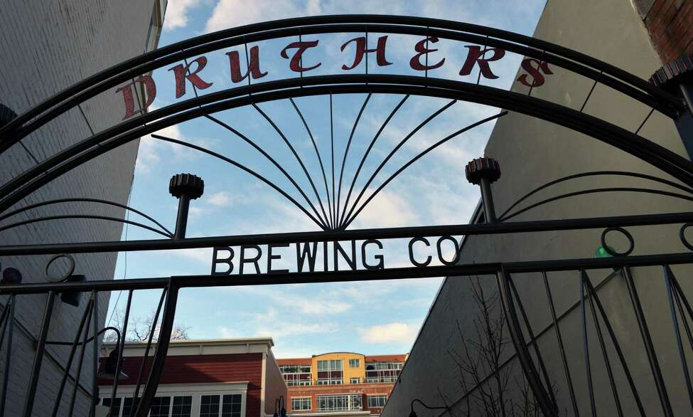 Sidewalk entrance to Druthers Brewing Company in Saratoga Springs Tuesday Jan. 15, 2013. (John Carl D'Annibale / Times Union)