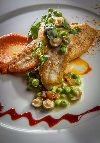 The John Dory entree at The Sea restaurant in Palo Alto, Calif., is seen on Saturday, January 12th, 2013. Photo: John Storey, Special To The Chronicle