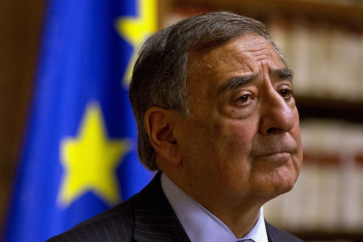Defense Secretary Leon Panetta pauses during a news conference in Rome, Wednesday, Jan. 16, 2013. Panetta confirmed on Wednesday that American citizens are among the hostages taken by an Al Qaeda-linked group that seized a gas field in Algeria, calling the action a