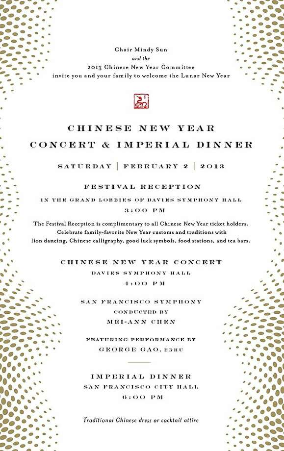 The San Francisco Symphony's Chinese New Year Concert & Imperial Dinner is Saturday February 2. Photo: San Francisco Symphony