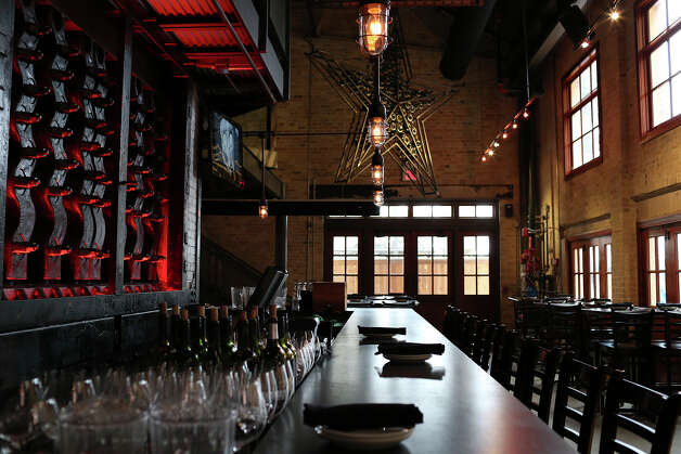 The dining room fills quickly especially on weekends, but patrons also can sit at the bar. Photo: Lisa Krantz, San Antonio Express-News / San Antonio Express-News