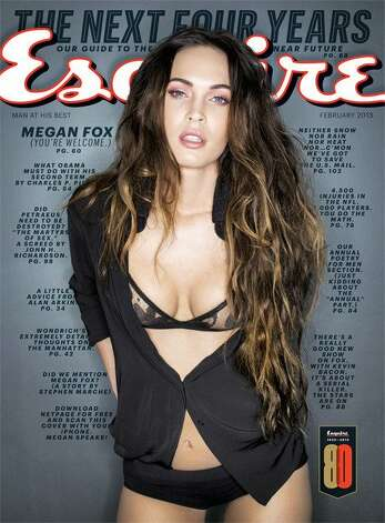 Megan Fox's upcoming February 2013 issue of Esquire continues the magazine's tradition of using sexy covers.