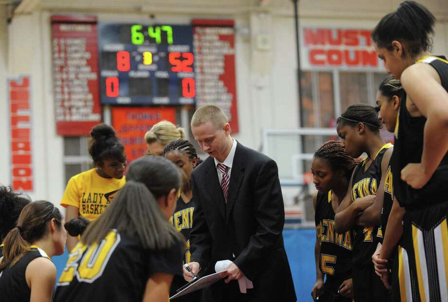 Brennan girls basketball coach Koty Cowgill is in his first season at the helm after spending seven years as a UTSA assistant. His Bears are 11-0 in District 28-4A. Photo: Billy Calzada, San Antonio Express-News / SAN ANTONIO EXPRESS-NEWS