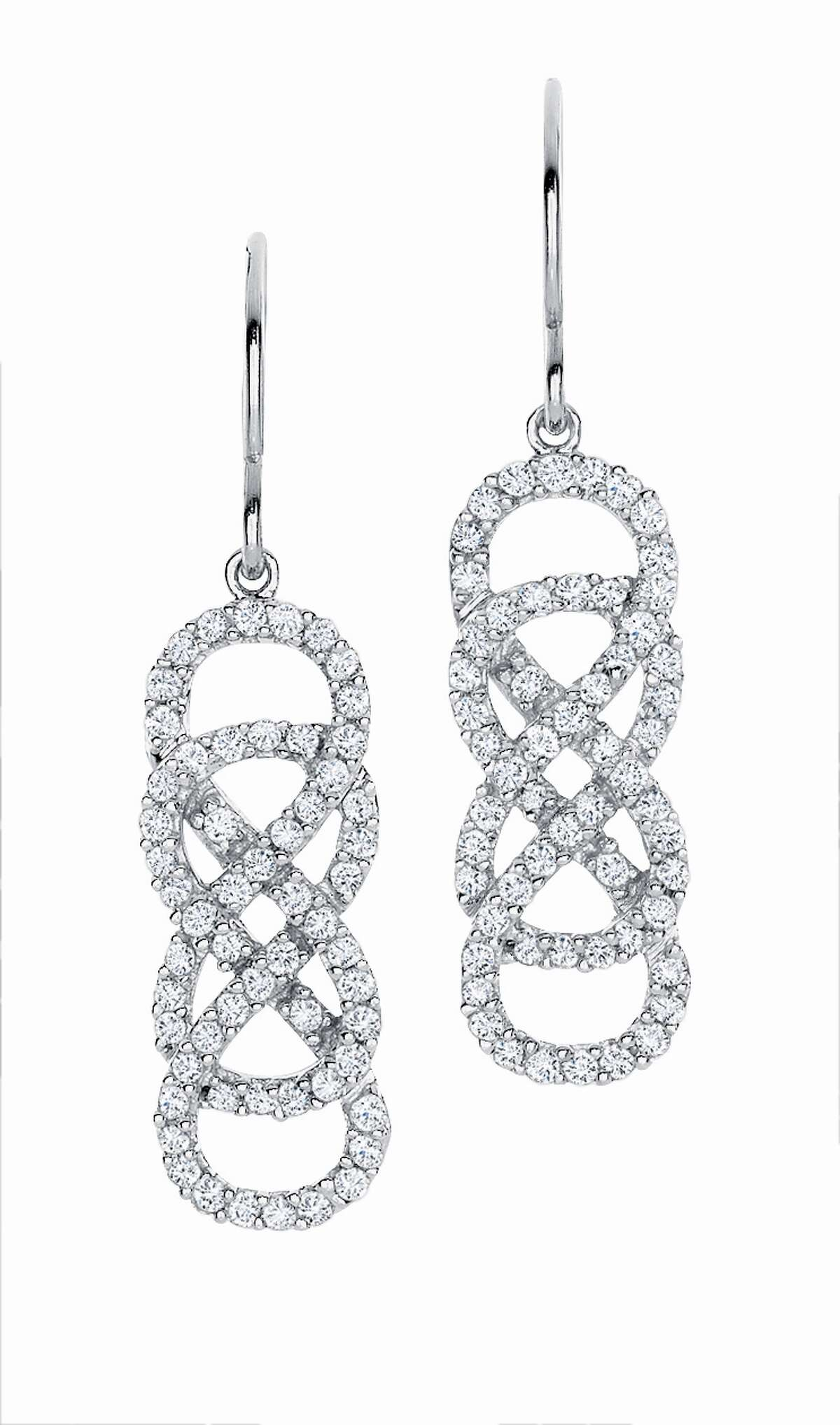 INFINITY X INFINITY jewelry collection, available exclusively at Helzberg Diamonds. These earrings are $1299.99.