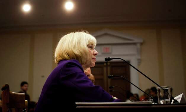 "Janet Robinson, the superintendent of schools in Newtown, Conn., during a House Democratic Steering and Policy Committee hearing entitled ""Gun Violence Prevention: A Call to Action"" at the Rayburn House Office Building in Washington, Jan. 16, 2013. President Barack Obama on Wednesday unveiled plans to introduce"
