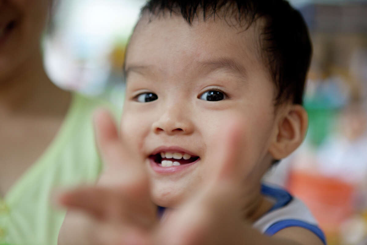 A boy at Oncology Hospital in Ho Chi Minh City.
