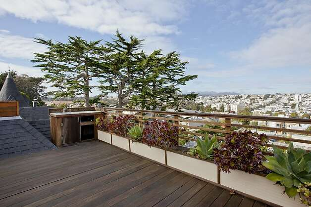 The roof deck provides a 280-degree view of San Francisco's skyline and the San Francisco Bay. Photo: OpenHomesPhotography.com
