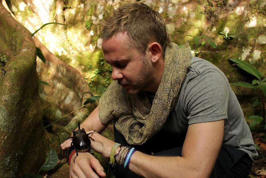 Actor Dominic Monaghan explores one of his passions, the world of creepy and crawly animals, in his new BBC America show. Photo: Mike Reid, BBC America