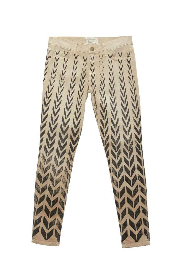 Good jeansWith an artsy chevron pattern and a shrunken fit, these ankle skinny jeans from Current/Elliott definitely aren't your grandma's khaki; $218 at Saks Fifth Avenue. / Current/Elliott