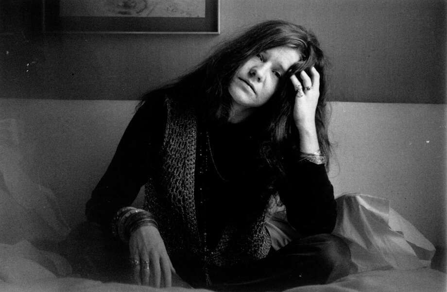 Janis Joplin, shown in a 1969 photo, was inducted into the Rock and Roll Hall of Fame in 1995. Photo: Evening Standard, Stringer / Hulton Archive