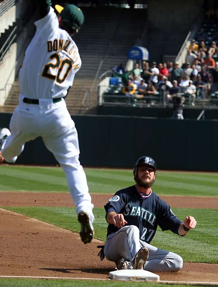 John Jaso hit .378 with runners in scoring position for Seattle. Photo: Lance Iversen, The Chronicle