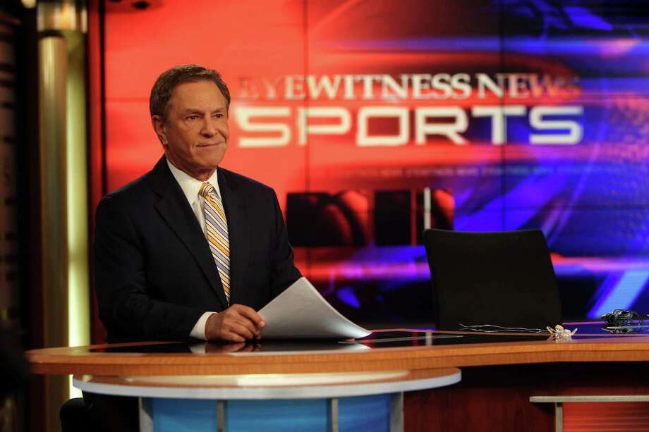 Bob Allen, Channel 13 Sports Anchor, prepares for what will be his last show this Thursday on Wednesday, Jan. 16, 2013, in Houston. Photo: Mayra Beltran, Houston Chronicle / © 2013 Houston Chronicle