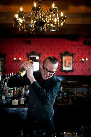 Jason Boggs, co-owner of the Shady Lady in Sacramento, shakes up one of the bar's craft cocktails. Photo: Max Whittaker/Prime, Special To The Chronicle