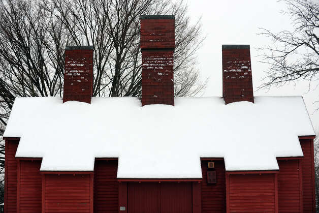 The blacksmith shop in Boothe Memorial Park, in Stratford, Conn. on a snowy morning, Jan 16th, 2013. Photo: Ned Gerard / Connecticut Post