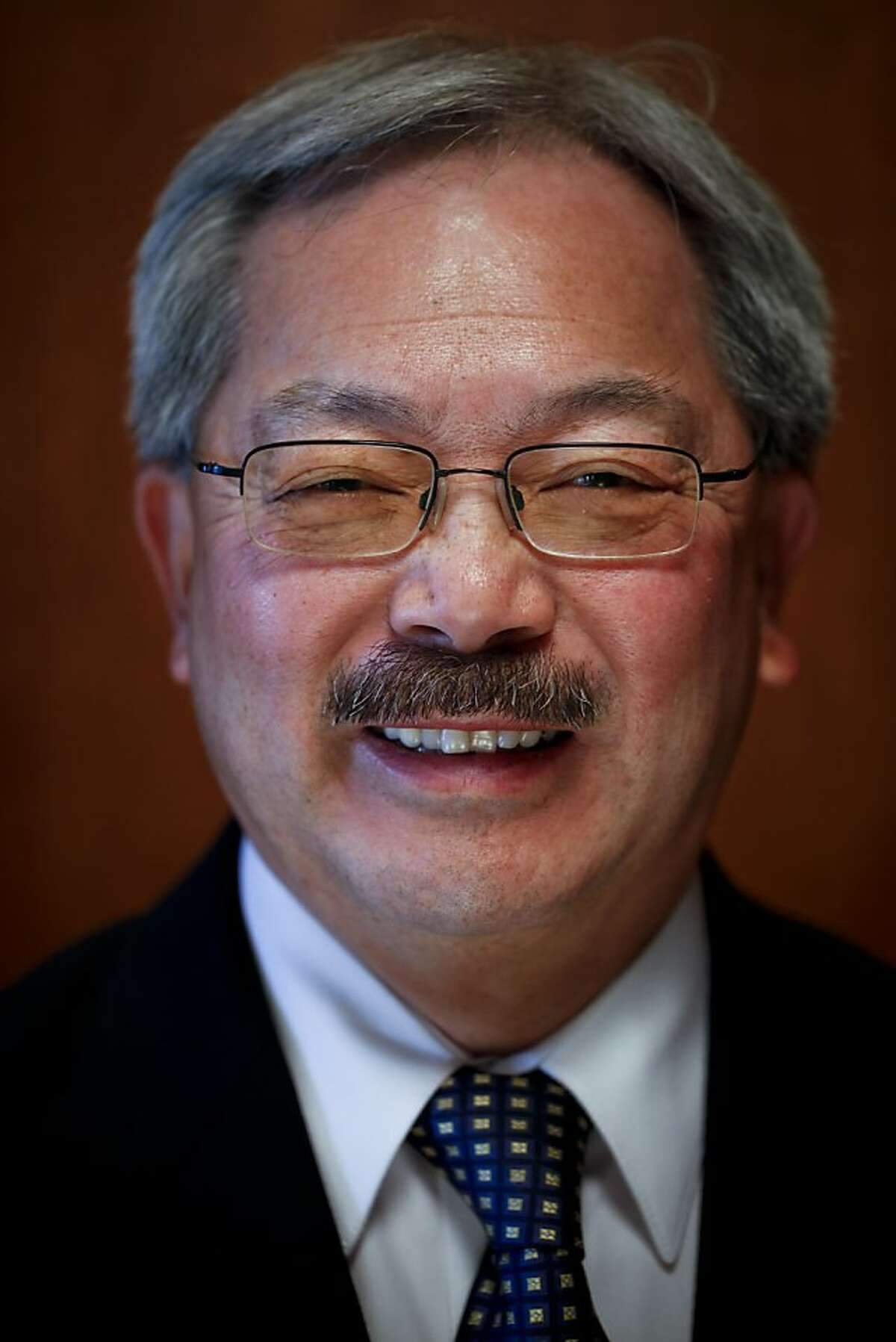 Mayor Ed Lee is seen in his SF City Hall office on Friday, Dec. 28, 2012 in San Francisco, Calif.
