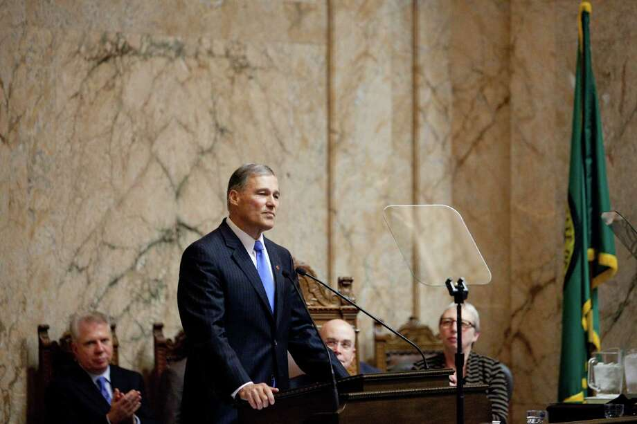 Inslee gives his inaugural address. Photo: JOSHUA TRUJILLO, SEATTLEPI.COM / SEATTLEPI.COM
