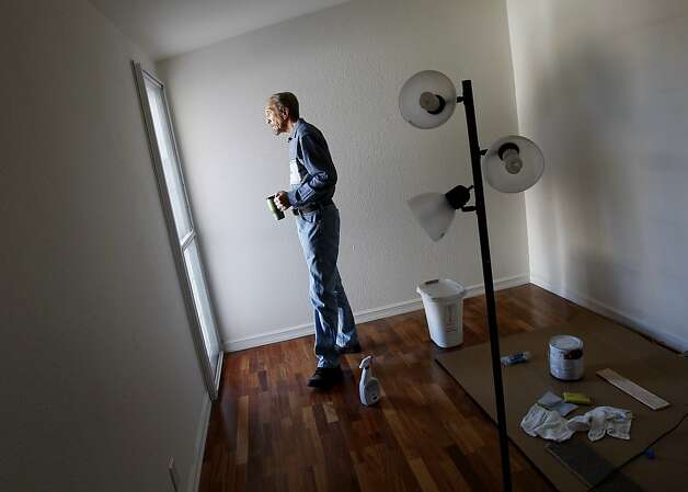 Jon Walawitch, 62, of Hayward is remodeling a bedroom as he readies his formerly underwater home to go on the booming Bay Area real estate market, hoping for a profit so he can buy a retirement home elsewhere. Photo: Brant Ward, The Chronicle