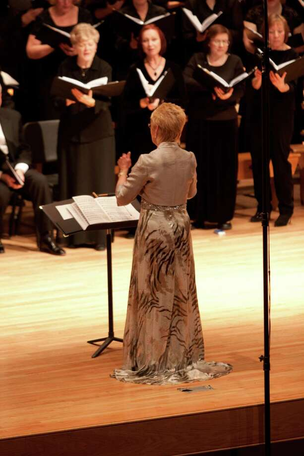 "The Mendelssohn Choir of Connecticut performs ""Angels and Demons,"" Sunday. Jan. 27, under the direction of Dr. Carole Ann Maxwell, above. Photo: Contributed Photo"